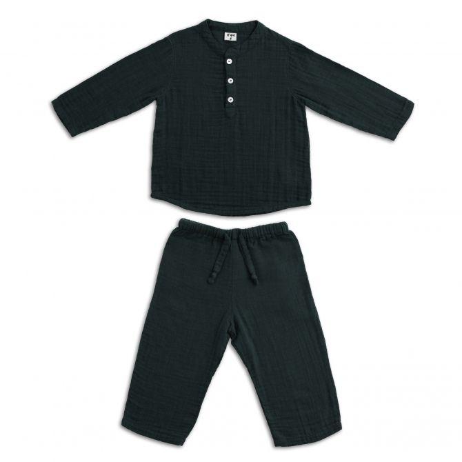 Komplet Dan koszulka & spodnie ciemnoszary - Numero 74