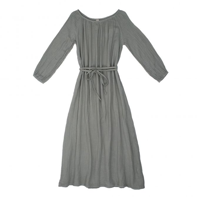 Numero 74 Dress for mum Nina long silver grey
