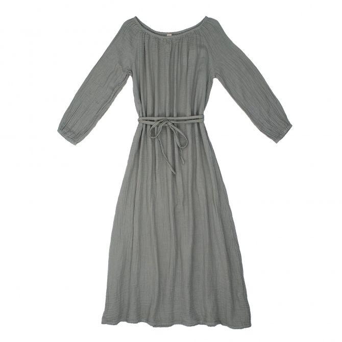 Numero 74 Sukienka dla mamy Nina długa srebrnoszara