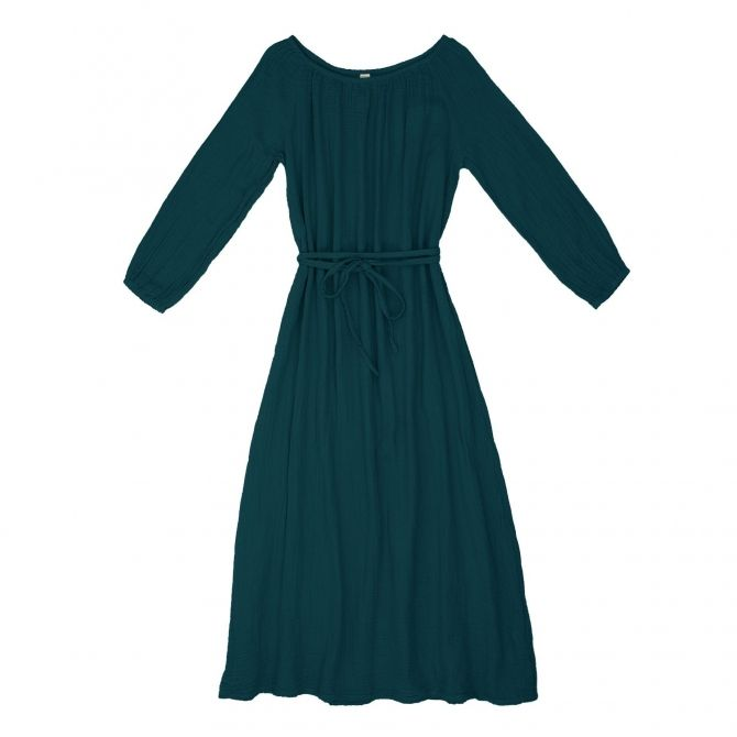 Dress for mum Nina long teal blue - Numero 74