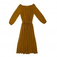 Sukienka dla mamy Nina długa musztardowa