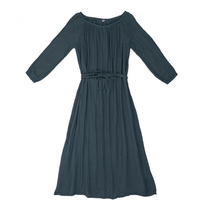 Sukienka dla mamy Nina długa szaroniebieska - Numero 74