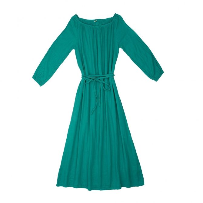 Numero 74 Dress for mum Nina long aqua blue
