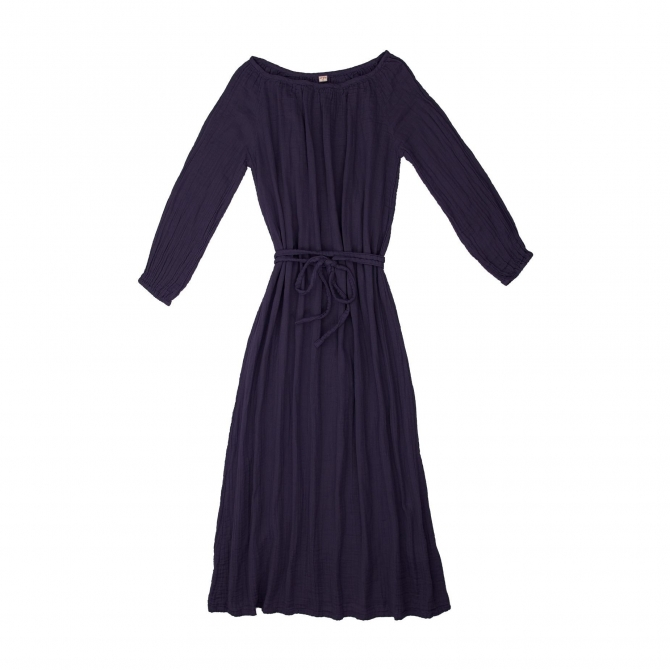 Numero 74 Dress for mum Nina long sweet aubergine
