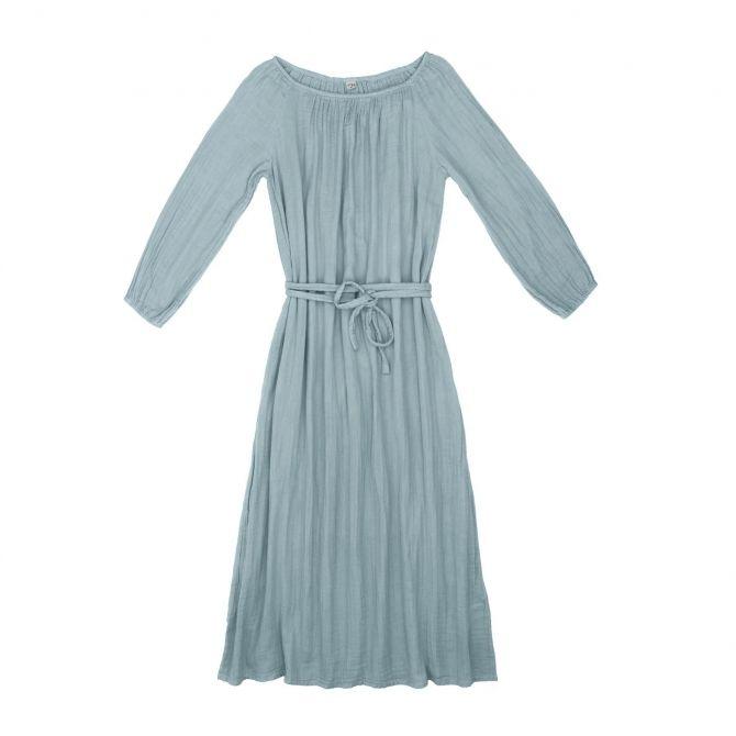Sukienka dla mamy Nina długa zgaszony błękit - Numero 74