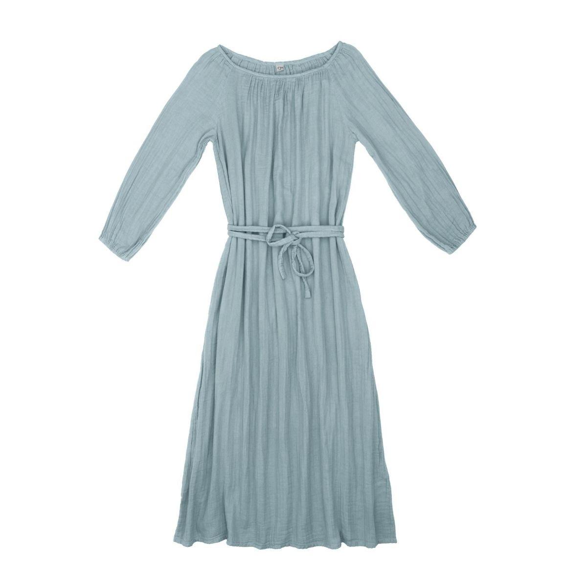 Numero 74 Sukienka dla mamy Nina długa zgaszony błękit