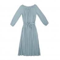Sukienka dla mamy Nina długa zgaszony błękit