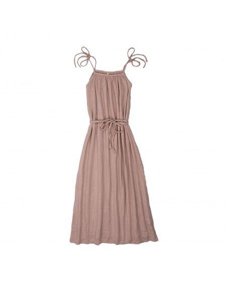 Sukienka dla mamy Mia długa zgaszony róż - Numero 74
