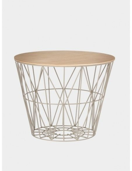 Ferm LIVING Wire Basket Top Oiled Oak