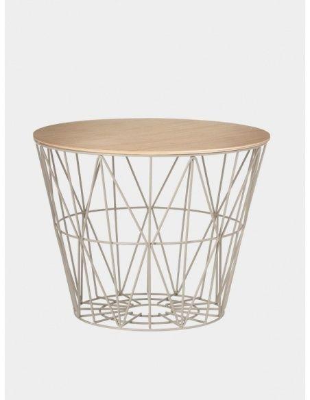 Wire Basket Top Oiled Oak - Ferm LIVING