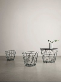 Ferm LIVING Wire Basket Top black oak