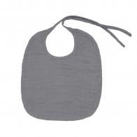 Baby Bib Round stone grey