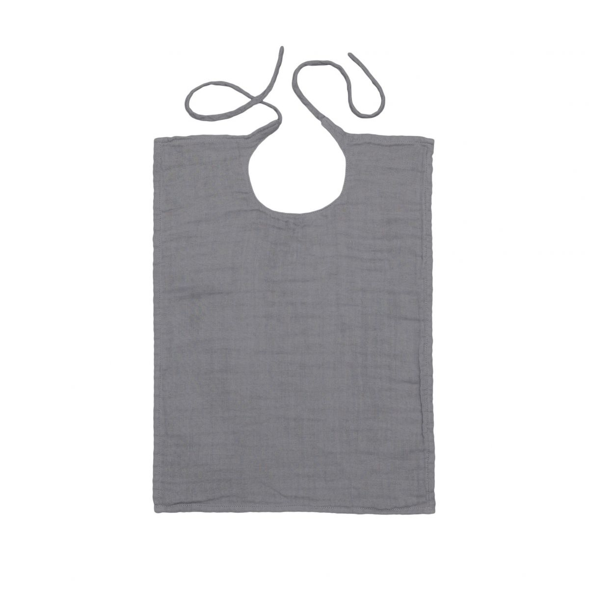 Numero 74 Baby Bib Square stone grey