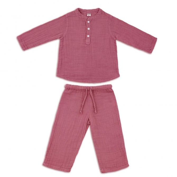 Suit Dan shirt & pants baobab rose - Numero 74
