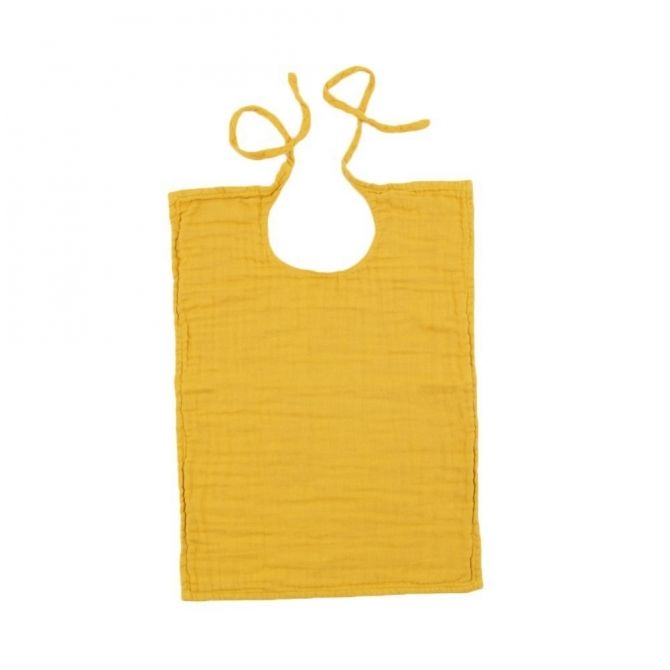 Numero 74 Baby Bib Square sunflower yellow