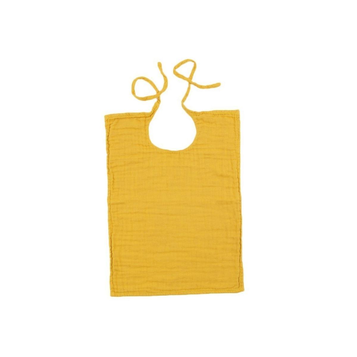 Numero 74 Baby Bib Square sunflower yellow