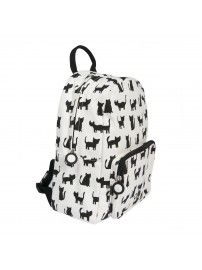Trixie Backpack Cats white