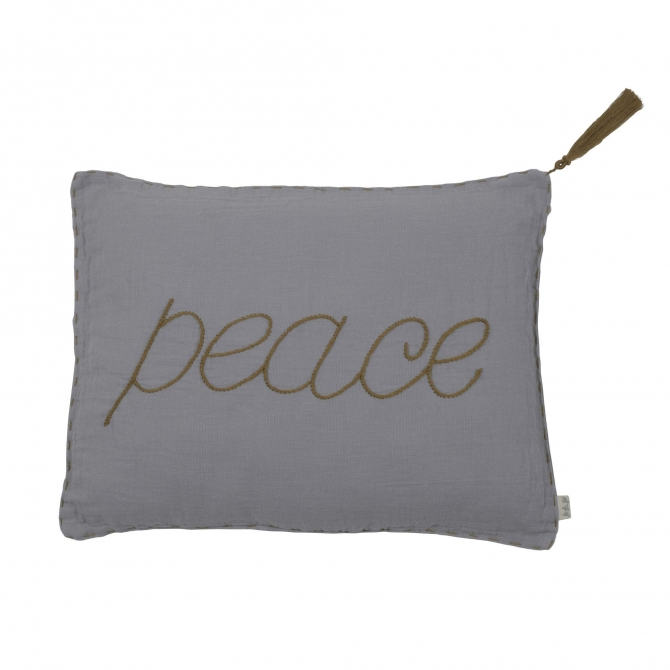 Numero 74 Cushion Message stone grey