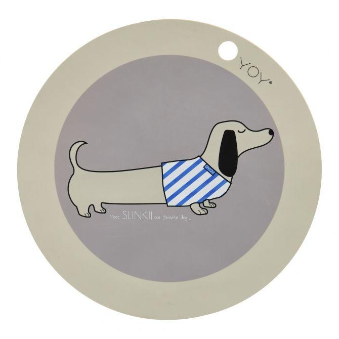 Podkładka pod talerz Pies Slinkii - OYOY