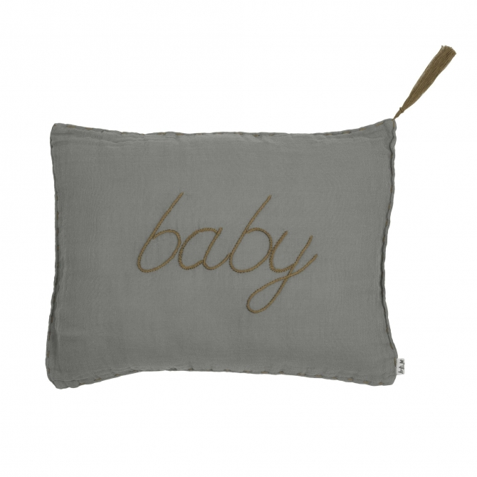 Cushion Message pastel silver grey - Numero 74
