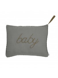 Poduszka Cushion Message pastel silver grey szara - Numero 74