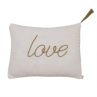 Poduszka Cushion Message pastel powder pudrowa