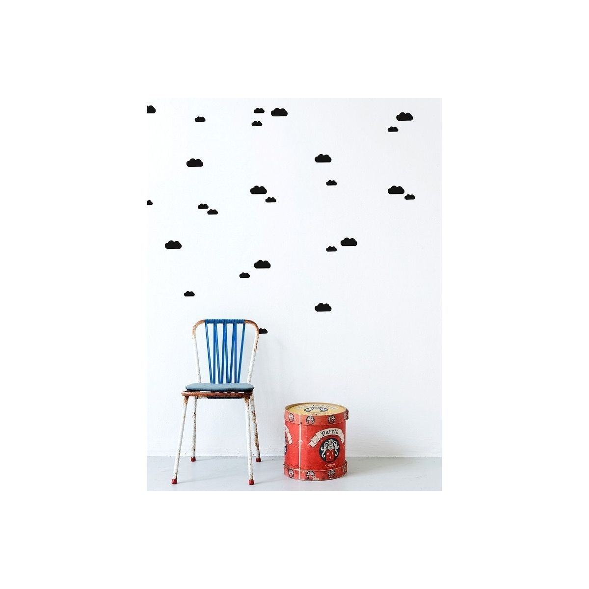 Ferm LIVING Wallsticker Mini Cloud black