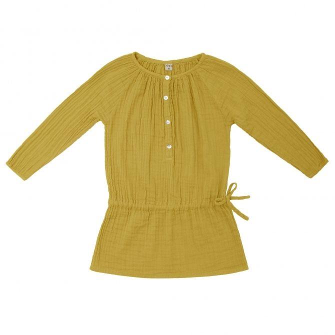 Sukienka dziecięca Naia słoneczna żółć - Numero 74