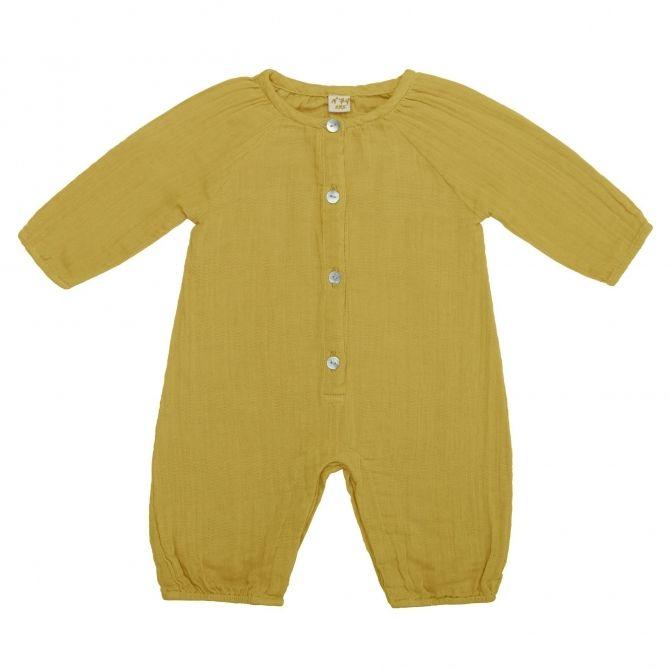 Pajac Niemowlęcy Leni słoneczny żółty - Numero 74