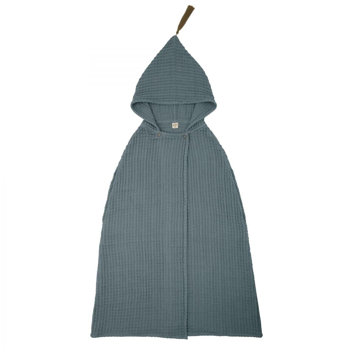 Numero 74 Szlafrok Poncho Towel GW szaroniebieski