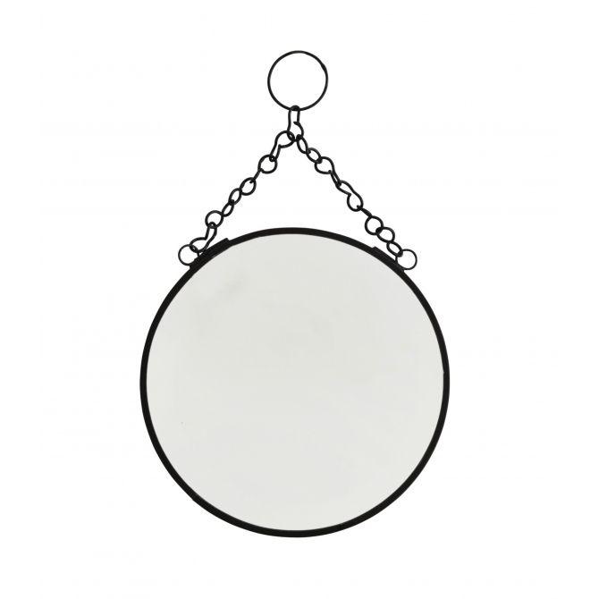 Lusterko okrągłe czarne małe - Madam Stoltz