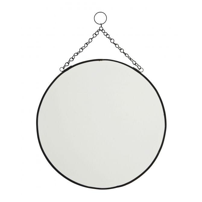 Round mirror black large - Madam Stoltz