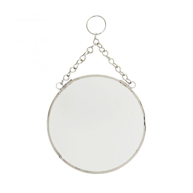 Round mirror silver small - Madam Stoltz