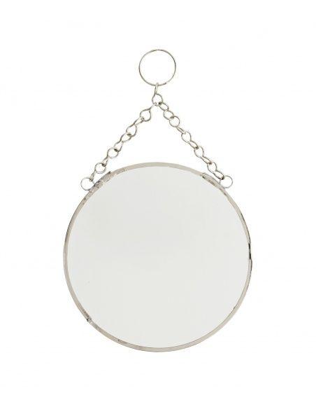 Madam Stoltz Round mirror silver small