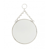 Lusterko okrągłe srebrne małe