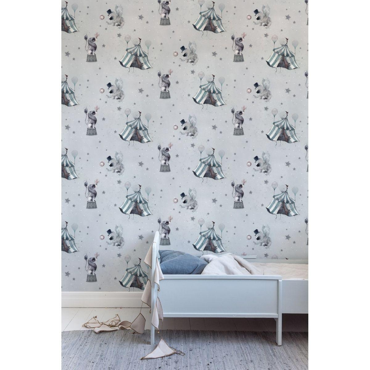 Mrs. Mighetto - The Wallpaper Circus Mighetto blue-grey - 1