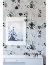 Mrs. Mighetto - The Wallpaper Circus Mighetto blue-grey - 2