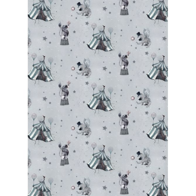 The Wallpaper Circus Mighetto blue-grey - Mrs. Mighetto