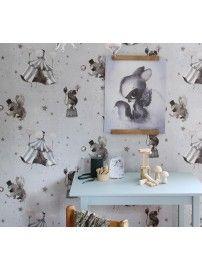 Mrs. Mighetto - The Wallpaper Circus Mighetto blue-grey - 3