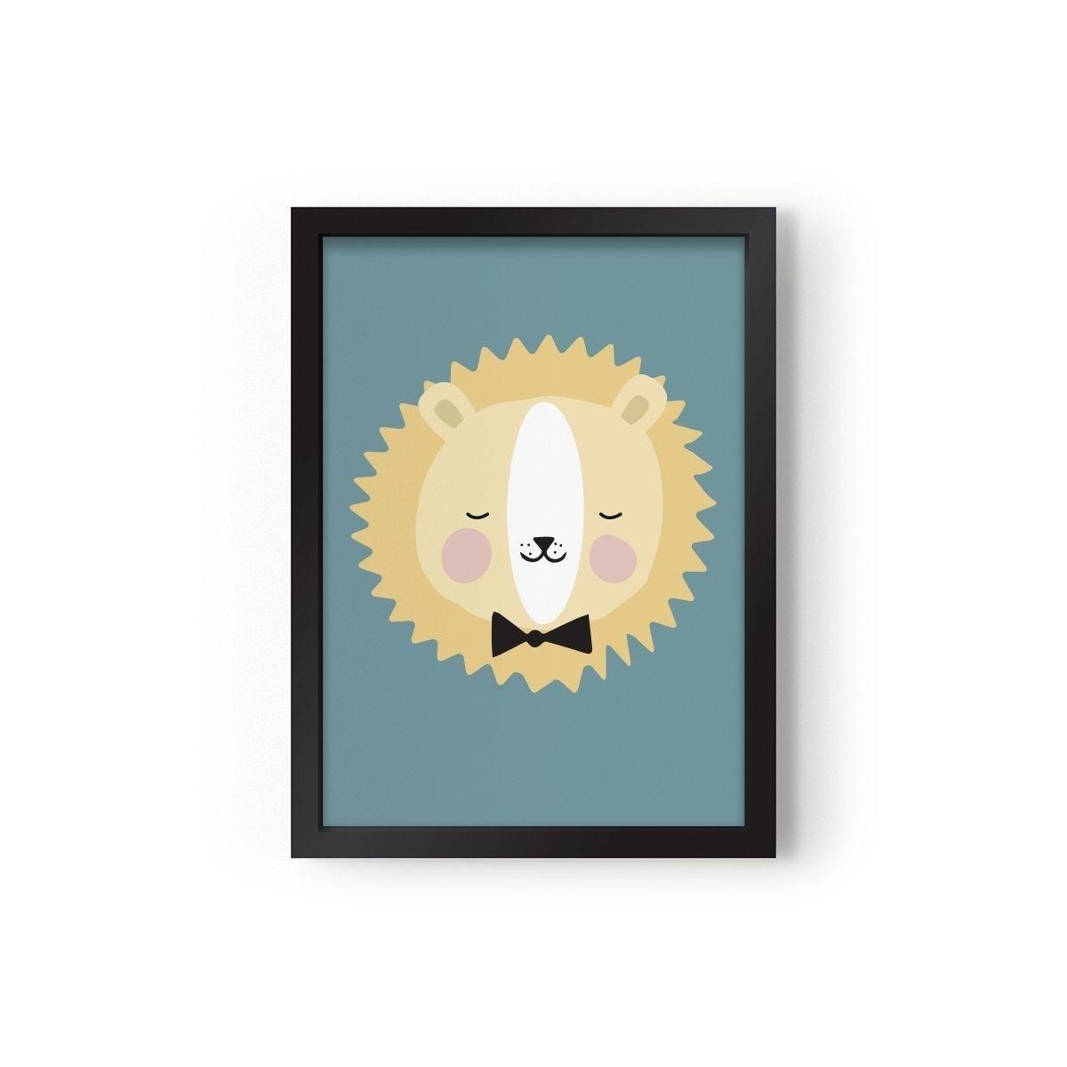 Poster Friendly Lion - Eef Lillemor