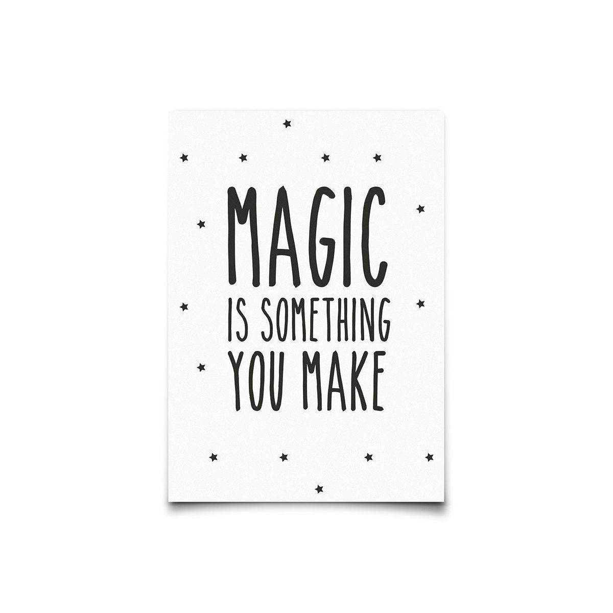 10c3b60c986 Eef Lillemor | Postcard Magic Is Something You Color White Posters A3