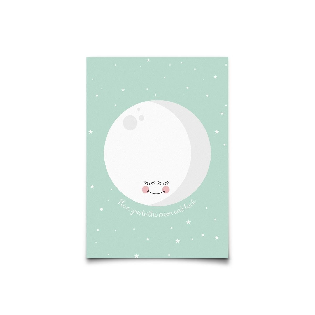 Eef Lillemor - Postcard I Love You To The Moon and Back mint - 1