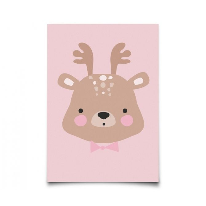 Postcard Forrest Animals Ms. Deer - Eef Lillemor