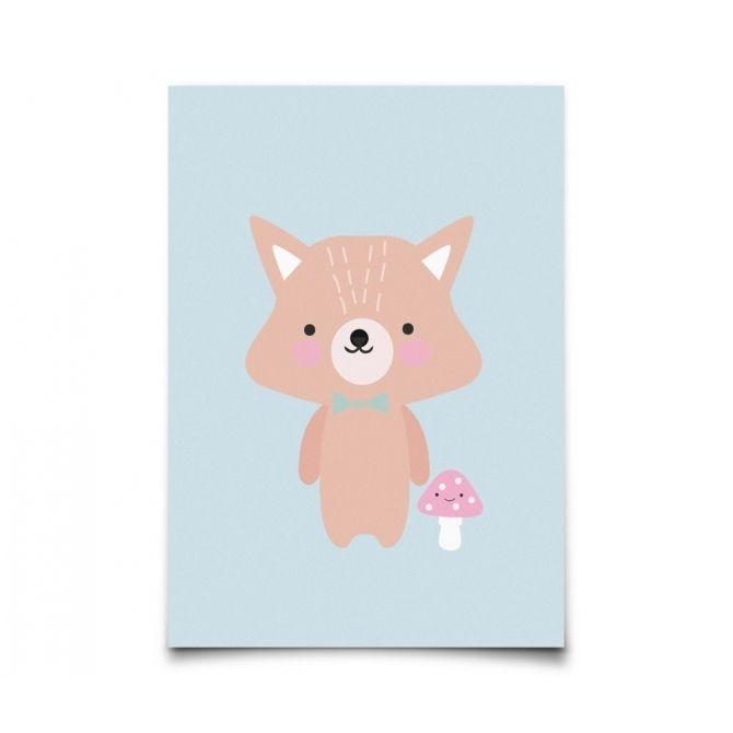 Postcard Baby Animals Fox - Eef Lillemor