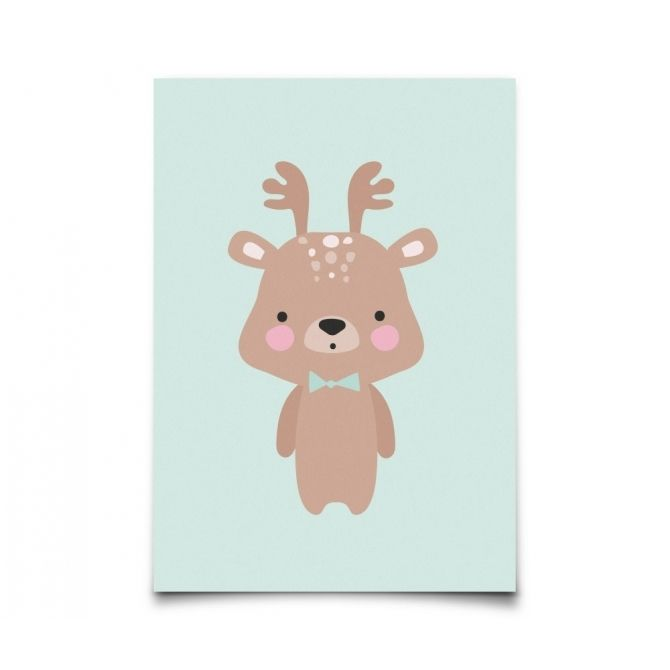Postcard Baby Animals Deer - Eef Lillemor