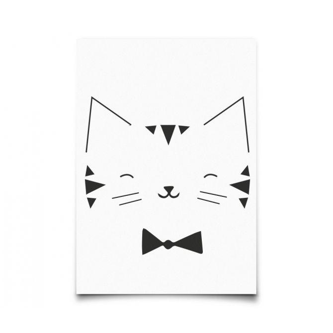 Kartka Monochrome Animals Cat - Eef Lillemor