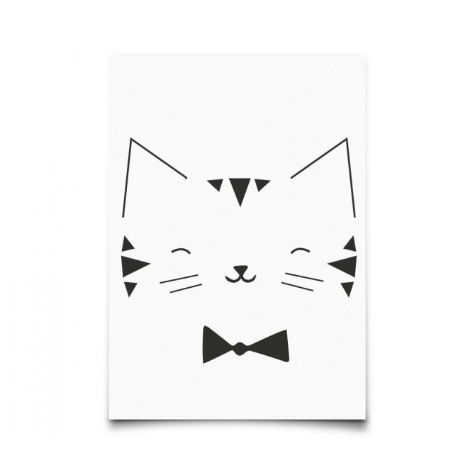 Postcard Monochrome Animals Cat - Eef Lillemor