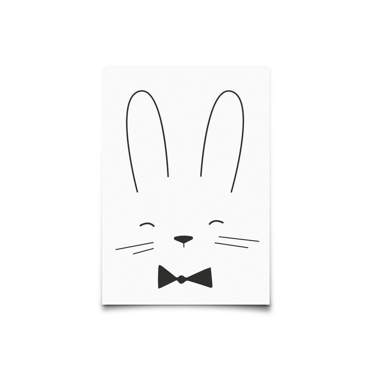 Kartka Monochrome Animals Rabbit - Eef Lillemor