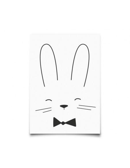 Eef Lillemor - Postcard Monochrome Animals Rabbit - 1