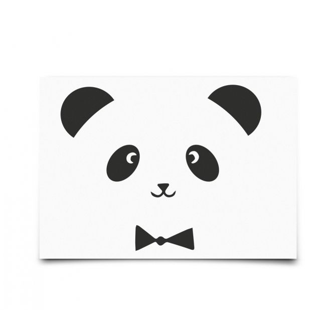 Postcard Monochrome Animals Panda - Eef Lillemor